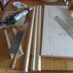 Material für den Garnrollenhalter