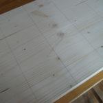 Garnrollenhalter - Holzbrett mit Abstände